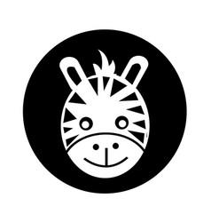 zebra face icon design vector image