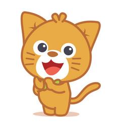art of cat character vector image