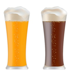 beer glasses vector image vector image