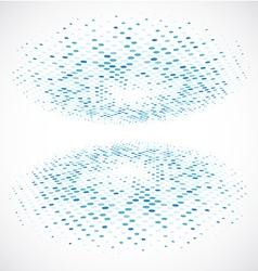 Blue Halftone circle vector image