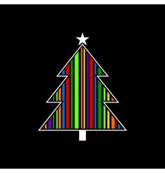 Celebratory tree vector image vector image