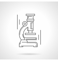 Microscope flat line design icon vector image vector image