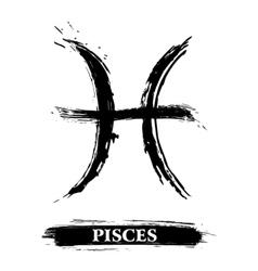 Pisces symbol vector image vector image