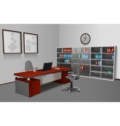 Realistic Office Interior vector image vector image