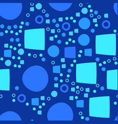 blue modern geometrical abstract background with vector image