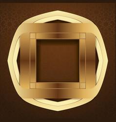 elegant islamic template design vector image