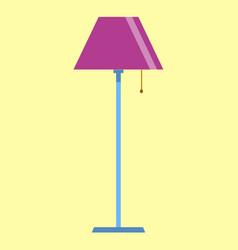 A yellow floor lamp Royalty Free Vector Image - VectorStock