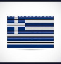 Greek siding produce company icon vector image