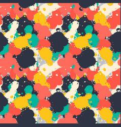 lnk art brush splash seamless pattern grunge vector image