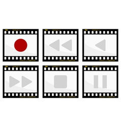 video buttons vector image vector image