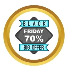 70 Black Friday sale icon vector image vector image