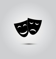 happy and sad theater masks vector image