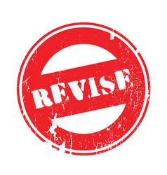 revise rubber stamp vector image vector image