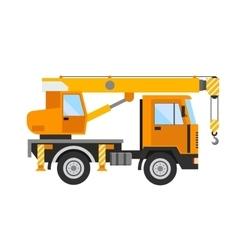 Building under construction crane machine technics vector image vector image