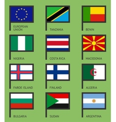 Flags flat set-03 vector image vector image