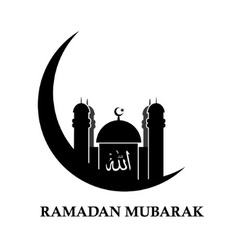 Islamic icon to the month of Ramadan vector image