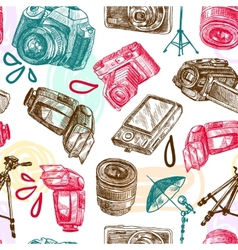 Photo seamless pattern vector image vector image