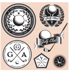 set of emblems to topic golf game vector image vector image