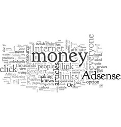 Adsense and affiliate programs simple way to make vector