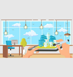 Architectural agency flat vector