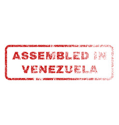 Assembled in venezuela rubber stamp vector