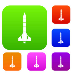 Atomic rocket set collection vector