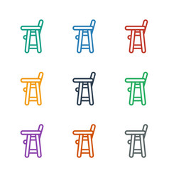 Baby chair icon white background vector