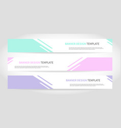 banners design or headers web template vector image