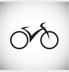 bicycle icon on white background for graphic and vector image