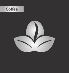 Black and white style icon coffee bean vector