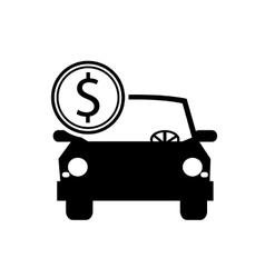 Car and coin icon vector
