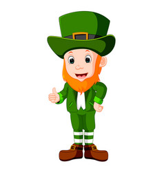 Cartoon funny leprechaun vector