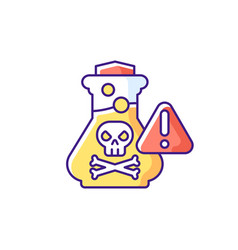 Chemical poisoning rgb color icon vector
