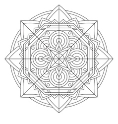 Circular pattern or mandala vector