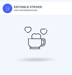 coffee time icon filled flat sign solid vector image