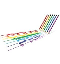 Color print pencil vector