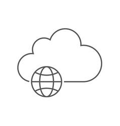 concept cloud technology cloud storage vector image