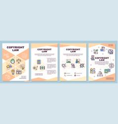 Copyright law brochure template vector