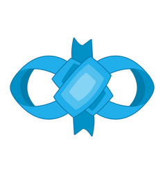 decorative blue bow bow for page decor vector image