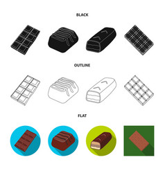 Design chocolate and flavor symbol vector
