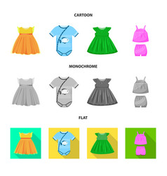 design of fashion and garment logo set of vector image