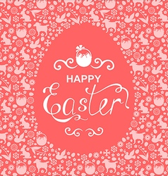 Easter card egg vector