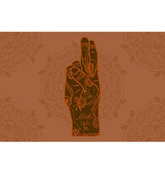 Element yoga mudra hands vector image