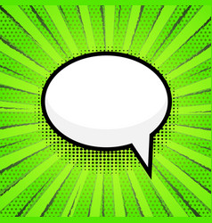 empty speech bubbl on pop art comic style dot vector image