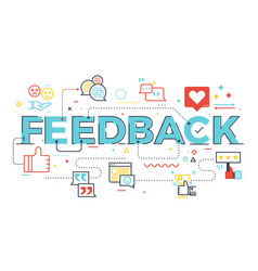 feedback word lettering vector image