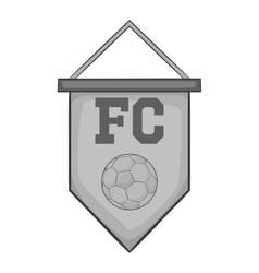 Flag football team icon black monochrome style vector