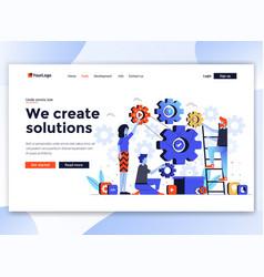 flat modern design website template - we vector image