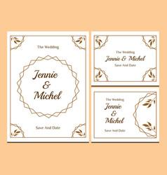Floral wedding invitation-11 vector