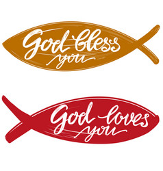 god loves you quote on background the vector image