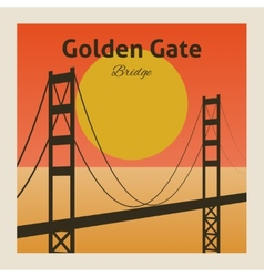 Golden gate bridge poster vector